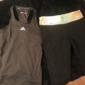 Adidas tank and mossimo yoga pants